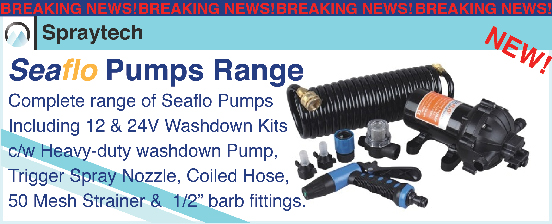 Seaflo Pumps Range Available at Spraytech